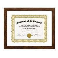 Betus [優雅]マットなしの28 x 36cmの21.5 x 28cmインチの木の証明書フレーム文字サイズ - ドキュメント、卒業証書と学位 - 壁掛け用具が含まれています - ブラウン