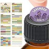 Illustrated Bottle Cap Labels for doTERRA Essential Oils • All 2018 doTERRA Single Oils Blends + Bonus Blank Stickers • 392 Essential Oil Sticker Labels For Aromatherapy Roller Storage Organizers