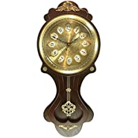 ALUP- ヨーロッパの木製の壁の時計の娯楽余暇の壁時計レトロな木時計中国のアンティークの吊りテーブル (色 : 2)