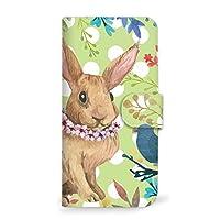 mitas Galaxy Note8 SC-01K ケース 手帳型  うさぎ ウサギ 兎 ラビット グリーン (360) SC-0210-GR/SC-01K