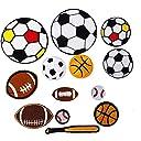 13枚 球類運動 野球 サッカー ラグビー バスケットボール アイロン ワッペン 刺繍 アイロン接着 男の子 女の子 多色 ジーンズ 修復パッチ 装飾材料