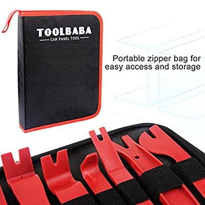 TOOLBABA 19 pcs Trim Removal Tool Set, Car Panel Removal Tool, Auto Trim Removal Tool Kit with Storage Bag