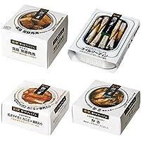 缶つまプレミアム 贅沢4種セット(角煮 オイルサーディン かき ズワイガニ)