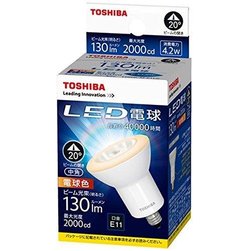 東芝ライテック LED電球(ハロゲン電球形) 電球色 LDR4L-M-E11/2