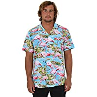 Island Style Clothing Mens Hawaiian Shirts Flamingo Floral Tropical Party Prints