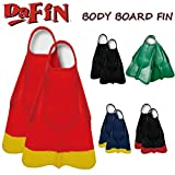 DA FIN 【ダフィン】 BBフィン ボディボード用フィン スイムフィン DaFin (BK_RED, ML)