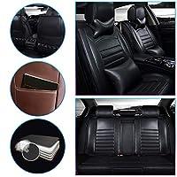 カーシートカバー のために MINI JCW COUNTRYMAN Luxury 5席フォーシーズンズユニバーサルPUレザー車用シートカバーカーシート保護カバーノンスリッ 耐摩耗性 超快適性 自動車内装 黒