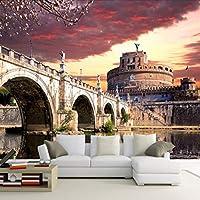 Wuyyii カスタム3D壁画手描きの壁画リビングルームの壁紙都市風景風景テレビの背景壁レストランWallpaper150X120Cm
