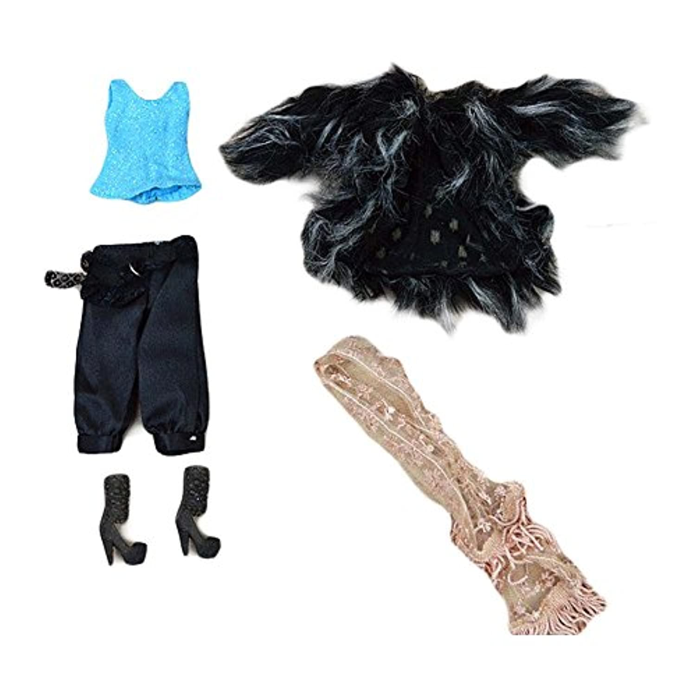 手作り ドール服 人形服 - エレガントな偽ファーコートセット - 5個 人形 服 人形用