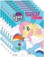 My Little Pony Coloring and Activity Book with Stickers (Pack of 6) [並行輸入品]