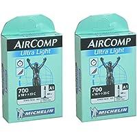 2本セット MICHELIN(ミシュラン) AIRCOMP ULTRALIGHT(エアーコンプウルトラライト) 700×18/23C 仏式 超軽量チューブ [並行輸入品]