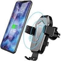 Voulttom ワイヤレス充電器Qi車載,エアコン吹き出し口 スマホホルダー,360度回転 qi充電スタンドホルダー ,携帯ホルダーIphone8/ IphoneX/IphoneXS/ Samsungなどワイヤレス可能スマホ対応
