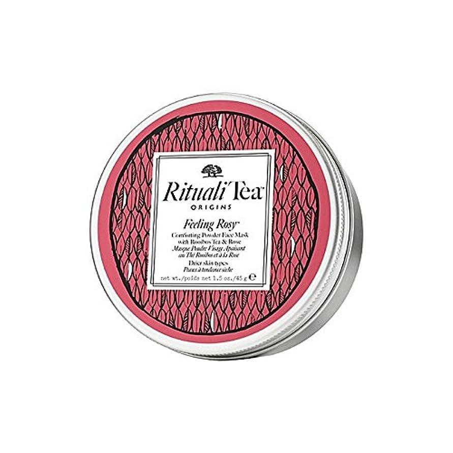 プリーツ影響広範囲にOrigins Ritualitea Feeling Rosy Face Mask (Pack of 6) - バラ色のフェイスマスクを感じ起源 x6 [並行輸入品]