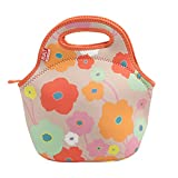 BUILT 5158474 Gourmet Getaway Soft Neoprene Lunch Tote Bag-Lightweight, Insulated and Reusable, Bright Flower