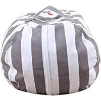 Demiawaking 収納袋 収納バッグ ぬいぐるみおもちゃ/衣類 多目的 仕上げ袋 グレー S