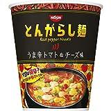 とんがらし麺 うま辛トマト&チーズ 66g ×12食 製品画像