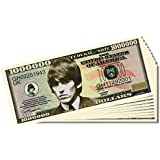 Beatles George Harrison Novelty Million Dollar Bill - 10 Count with Bonus Clear Protector & Christopher Columbus Bill