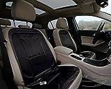 Zento Deals 2パック自動車プレミアム品質快適ウルトラ車加熱シートクッション12V調節可能な温度(ブラック)