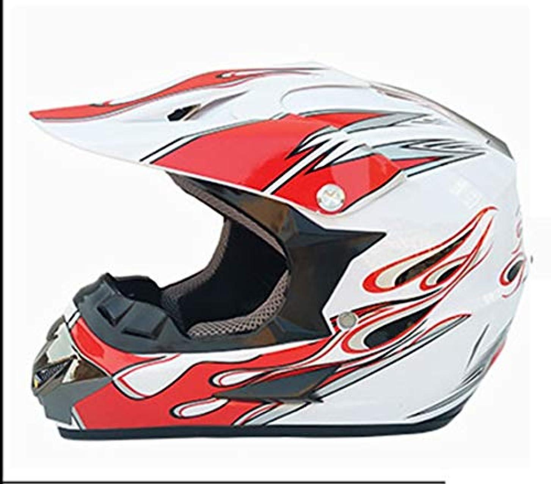 おばあさん上流の心のこもったETH 男性と女性の ヘルメットオートバイヘルメットオフロードヘルメット四季クロスカントリーヘルメット小さなヘルメットを送るためにゴーグル手袋マスク 保護 (色 : White, Size : S)