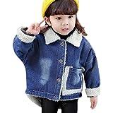 Plus Nao(プラスナオ) 子供用 ジージャン デニムジャケット 長袖 前開き ボタン アウター 上着 ジーンズ ポケット付き イートンカラー バッ