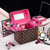 大容量化粧品袋旅行化粧品ケース多層収納袋老眼4箱エクストララージ