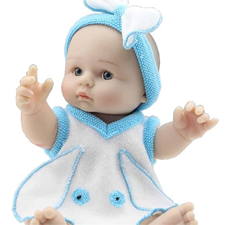 Mode doux nourrir bébé Mini Poupée Silicone 8 pouces plein cuir véritable Poupée Reborn Corps Garçon nouveau-né réaliste avec de nouveaux vêtements Poupées Style Portable Réduire l'Anxiété Autisme aide les femmes enceintes
