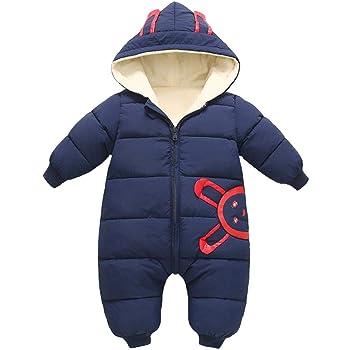 395767af3e523 Classicbuy オネシーズ 赤ちゃんジャンプスーツ 子供服 幼児 ベビー服 フード付き 可愛い 柔らかい 厚手のベビーワンピースの服