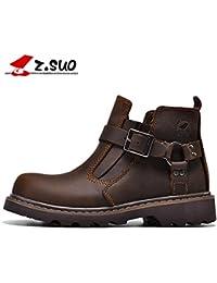 Z.SUO トレッキングシューズ メンズ ツーリングブーツ マーチンブーツ ハイキング クライミング アウトドア デザートブーツ