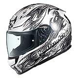 オージーケーカブト(OGK KABUTO)バイクヘルメット フルフェイス SHUMA FLAME(フレイム) パールホワイトブラック (サイズ:XL)