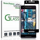 amFilm Google Pixel 2 Screen Protector Glass, Full Cover Tempered Glass Screen Protector with Dot Matrix for Google Pixel 2 (1 Pack, Black)