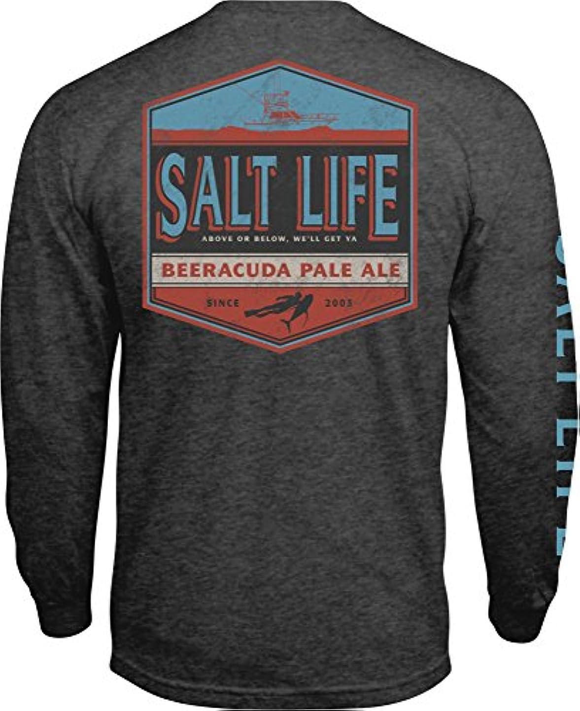 オズワルドアーサーコナンドイルコントロール[ソルトライフ] メンズ シャツ Salt Life Men's Beeracuda Long Sleeve Sh [並行輸入品]