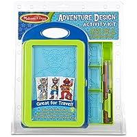 Melissa & DougアドベンチャーDesign Activity Kit : 9両面プレート4、色鉛筆、クレヨン