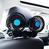 SILIVN 車載扇風機 双頭車載ファン DC12V