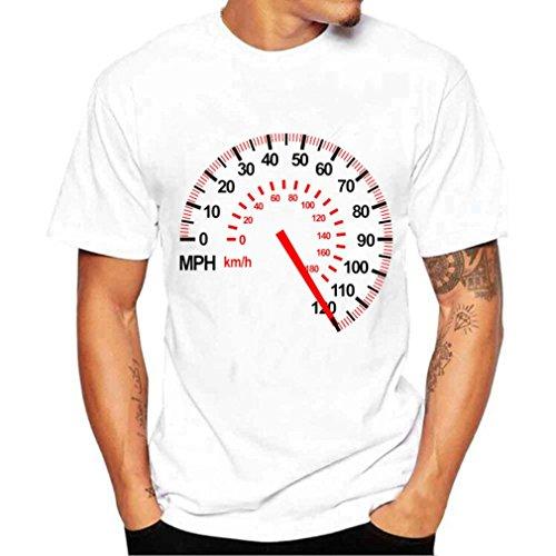 Hanaturu(ハナツル) 柄プリント トップス おもしろ メンズ 半袖 Tシャツ 大きいサイズ クルーネック 白 カットソー 夏服 人気 友達/彼氏 プレゼント S-4XL