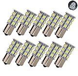 KIYOYO S25 BA15s 1156 27連 LEDバルブ LEDライト 車用 LEDランプ 5050 SMD シングル ホワイト 汎用 変換 超高輝度 24V 10個セット