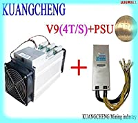 4-255 KUANGCHENG asicマイナーBITMAIN antminer V9 4TH / s(PSU付き)Bitcoin AsicマイナーV9 AntMiner S9 M3 T9 + E9