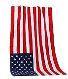 バス タオル 国旗 ユニオンジャック デザイン アメリカ イギリス 英国 米国 星条旗カナダ ドル コットン タオル 140×70cm スポーツ プール ビーチ バス タオル (アメリカ)