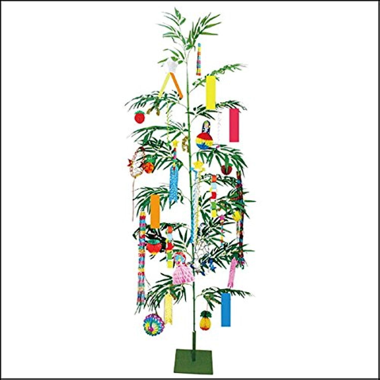 本格笹竹と七夕飾りが一緒になった 七夕イベントセット 240cm / 装飾 ディスプレイ  4193