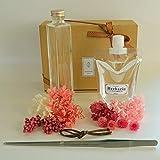 フェリナス 手作りハーバリウムキット 角瓶(角柱) ピンク系(ピンセット付) [90日間無料作り方サポート付] kaku-pink-kit-p