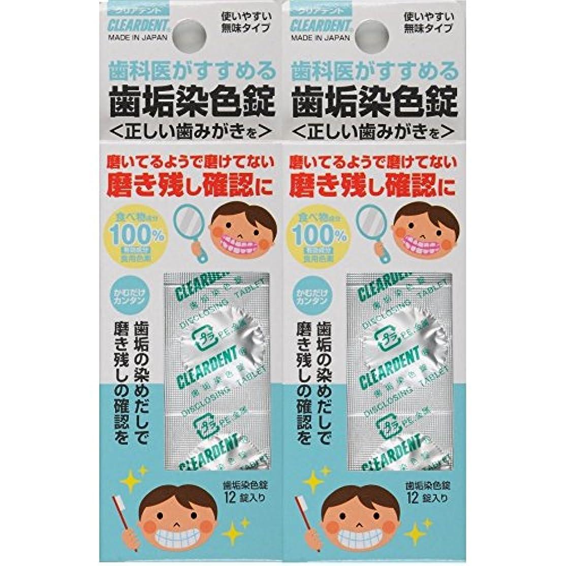 シャッター細い選挙クリアデント 歯垢染色錠 2個パック