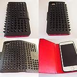 iPhone7 ケース スタッズ カバー ブラック 携帯ケース