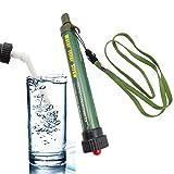 携帯 浄水器 ペットボトル取り付け可能 の浄水ストローボトル 2000L濾過 直飲み式 小型 七重濾過 水フィルター ストロー付き アウトドア活動 旅行や防災に 衛生で健康の水はスム ーズに飲めます! (グリーン)