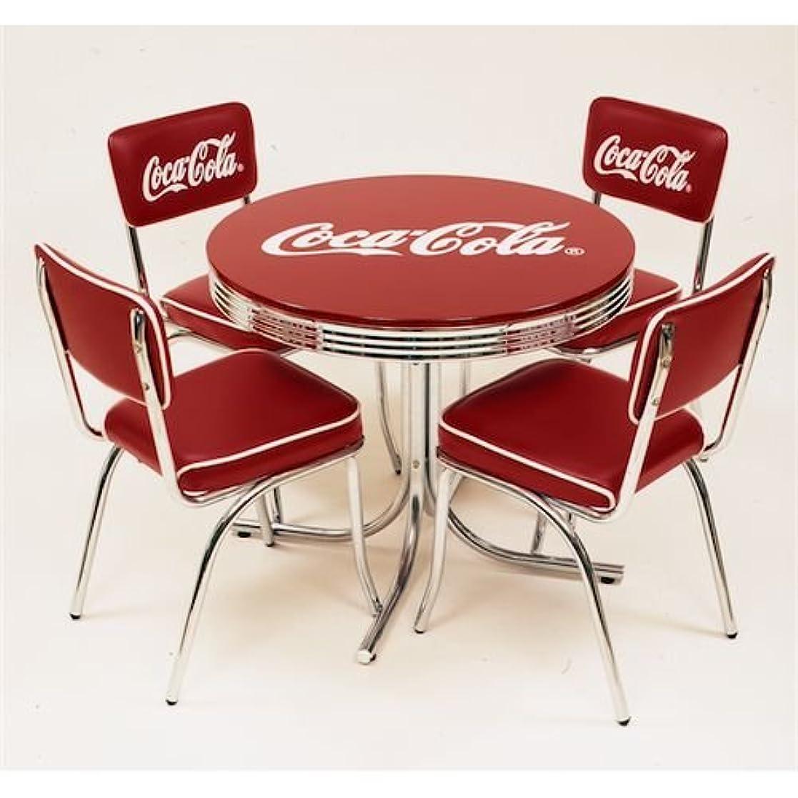 上へ実質的に罪悪感テーブル?チェアセット コカ?コーラ ローテーブル&チェアー フルセット USA