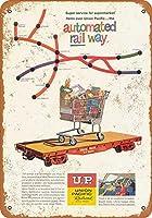 なまけ者雑貨屋 アメリカン 雑貨 ナンバープレート Union Pacific Automated Railroad ヴィンテージ風 ライセンスプレート メタルプレート ブリキ 看板 アンティーク レトロ