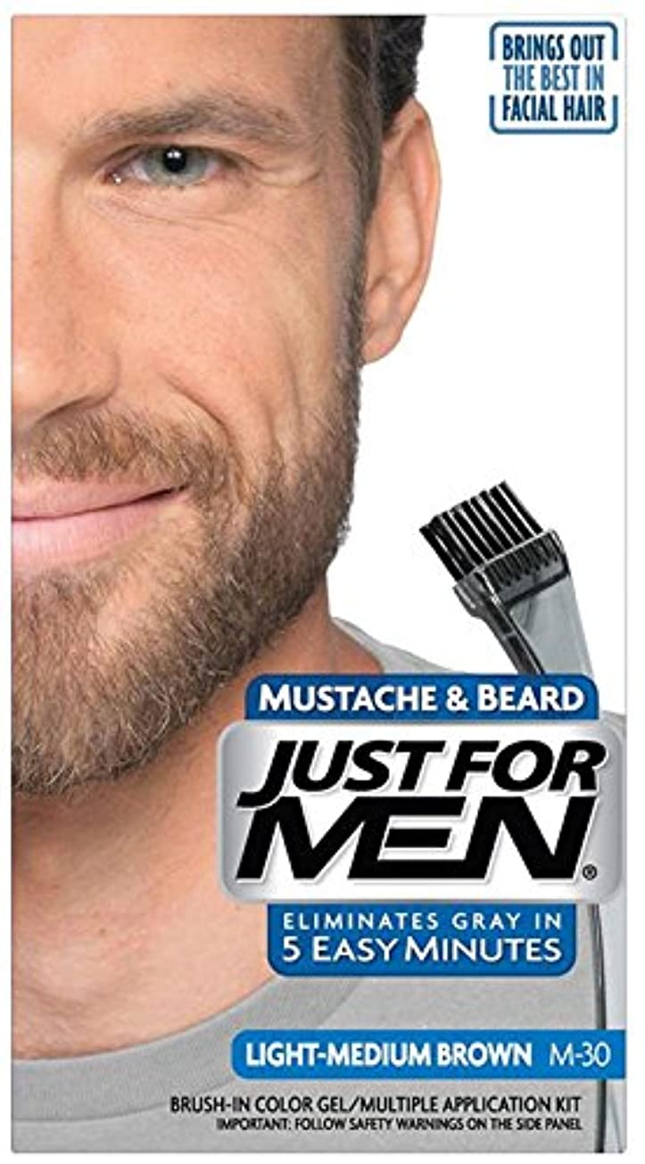 偉業進化プレミアJust for Men Brush-In Color Gel for Mustache & Beard Light-Medium Brown M-30 (並行輸入品)