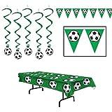 Soccer Dangling Whirls Pennant Banner Tablecover 7 Piece Bundle Set [並行輸入品]