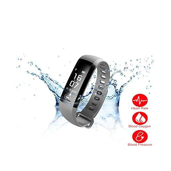 c55c2acc9e スマート ウォッチ 心拍計 腕時計 防水 着信通知 スマートブレスレット 血圧 日本語 血中酸素