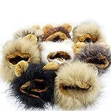 Enjoy Youth ペット用帽子 犬猫用ウィッグ ライオン ペット用 コスプレキャップ たてがみ ペットのためのギフト ペット用品 可愛い 欧米風 冬のファッション 防寒 大変身 1 つランダム出荷