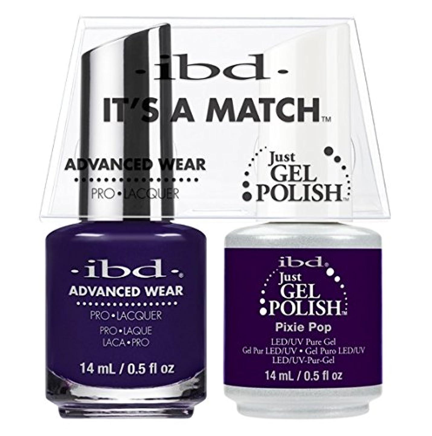 前置詞タッチ狂信者ibd - It's A Match -Duo Pack- Pixie Pop - 14 mL / 0.5 oz Each
