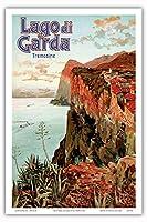 ガルダ湖 - トレモージネ、イタリア - ビンテージな鉄道旅行のポスター によって作成された エットーレ・エリオ・シメネス c.1920s - アートポスター - 31cm x 46cm